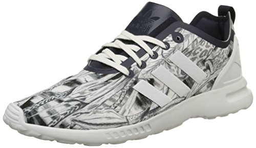 adidas Damen Zx Flux Smooth Sneakers, Weiß-Blanc (Legend S10/Legend Ink S10/Core White), 36 EU