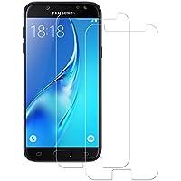 Cristal Templado Samsung Galaxy J5 2017, 2-Unidades Protector de Pantalla Samsung Galaxy J5 2017, POOPHUNS Cristal Vidrio Templado Premium para Samsung Galaxy J5 2017 [3D Touch Compatible] [9H Dureza] [Alta Definicion] [Anti-Huella] 0.3mm