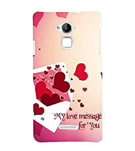 FUSON Love Message To You 3D Hard Polycarbonate Designer Back Case Cover for Coolpad Note 3