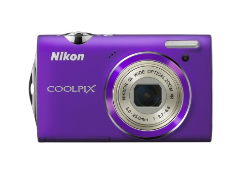 Nikon Coolpix S5100 Digitalkamera (12 Megapixel, 5-fach opt. Zoom, 6.7 cm (2.7 Zoll) Display, HD-Videofunktion) purple