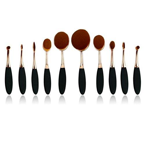 XUAN 10 poignée de brosse-noir rose or visage maquillage maquillage brosse