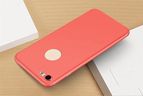 WYHYDCG 2 Stück, Ultra-dünne Matte TPU Anti-Rutsch-Gummi-Abdeckung, schützende Shockproof Gel Handy-Fall, schlanke robuste Rückenprotektor Stoßstange für Apple iPhone , Red