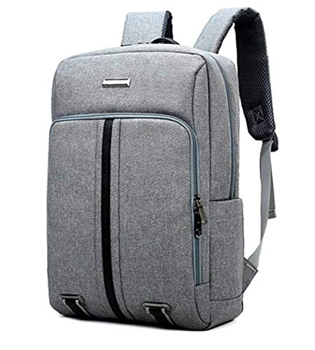 Laptop Rucksack,Doppelte Schultertasche Männliche Geschäftsreisetasche Notebook-Tasche Mode Bookbag Oxford Backpack Business, grau Daypack Schulrucksack Backpack