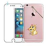 Coque iPhone 6, Coque iPhone 6S avec Verre Trempé, Etui Téléphone en Silicone...