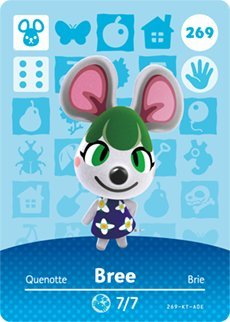 Bree - Nintendo Animal Crossing Happy Home Designer Amiibo Card - 269 by Nintendo