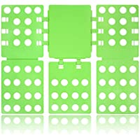 Tiantu T-Shirt Faltbrett, Wäsche Kleidung Pullover Hosen Shirt Falter Falthilfe Wäschefalter Hemdenfalter Wäschefaltbrett für Kinder und Erwachsen (Grün)