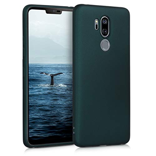 kwmobile LG G7 ThinQ/Fit/One Hülle - Handyhülle für LG G7 ThinQ/Fit/One - Handy Case in Metallic Petrol