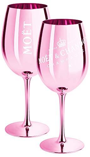 2 x Moet & Chandon Champagnerglas Rose (Limited Edition) Ibiza Imperial Glas Rosa Champagner-Glas Rosé Gläser (2 Stück)