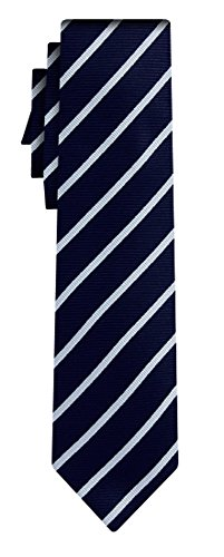 BOSS Stripe Tie in Navy One Size