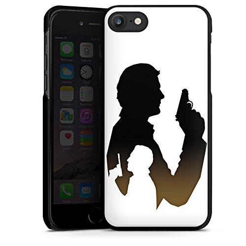 Apple iPhone X Silikon Hülle Case Schutzhülle James Bond Film Hard Case schwarz