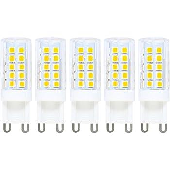 Bombilla G9 LED, 5 unidades, G9 Bombilla Pera, 5 W G9 LED Equivalente