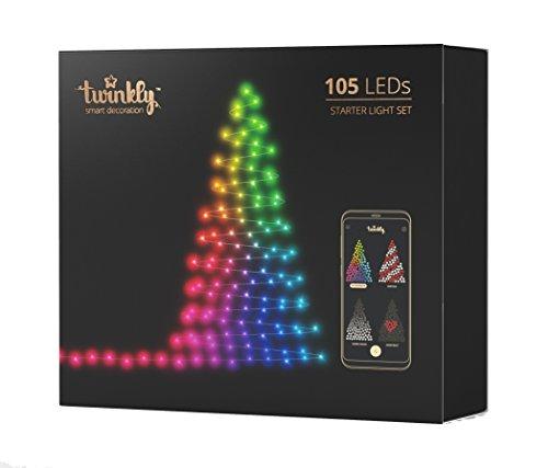 Twinkly - 105 LEDs, Illuminazione per albero di Natale controllabile via smartphone....
