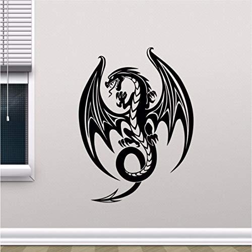 Xzfddn Dragon Wall Decal Extraíble Etiqueta De La Pared Juego De Tronos Vinyl Sticker Extraíble Decal Para El Hogar Dormitorio Decoración Arte Poster