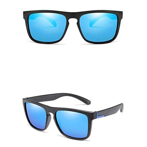 CCGKWW Männer Polarisierten Tr90 Sonnenbrillen Vintage Anti-Uv-Fahrer Schwarze Brille Brillen Rechteck Shades Männer Oculos Masculino Männlich
