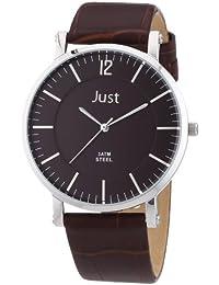 Just Watches Herren-Armbanduhr XL Analog Quarz Leder 48-S9295A-BR