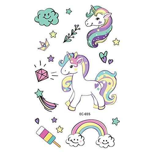 EROSPA® Einhorn Unicorn - Tattoo Sticker temporär - Kinder Mädchen