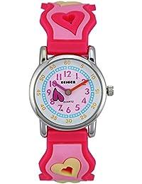 Zeiger Kinderuhr Lernuhr Mädchenuhr Herzform Kinder Uhr Rosa Armbanduhr KW005
