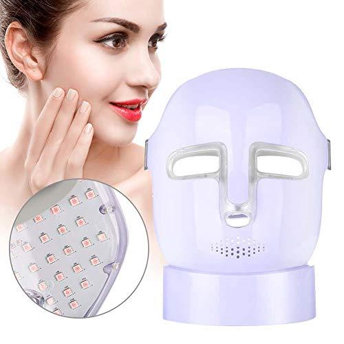 3 couleurs LED Masque Photon avec Cou - facial soin visage anti-âge masque de beauté, Blanchiment de soins de la peau quotidienne, la nouvelle thérapie photon LED(violet)