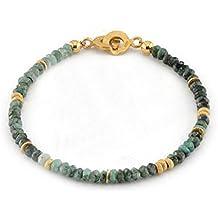 skielka designschmuck émeraude Bracelet (Argent 925, plaqué or) Bracelet émeraude–Avec Expertise