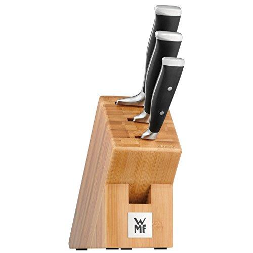 WMF Messerblock mit Messerset 4-teilig Grand Class 3 Messer geschmiedet Performance Cut und 1 Block aus Bambus