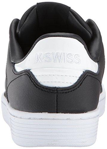 K-Swiss Clean Court Cmf, Scarpe da Ginnastica Basse Donna Nero (Black/white Hologram)