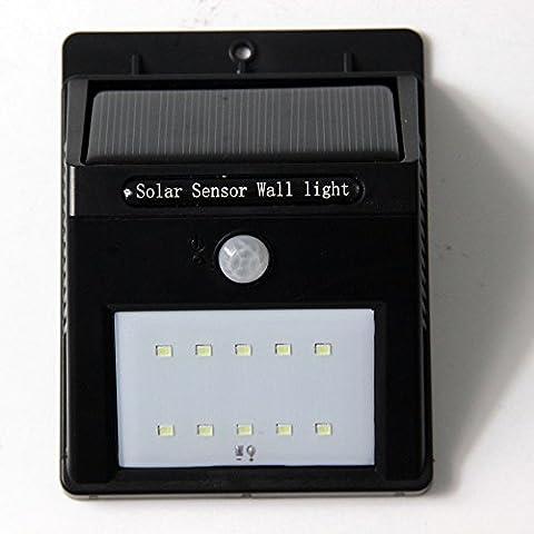 Nestling® Motion Sensor Wireless 10 LED Lumière Chargeur solaire Sécurité extérieure