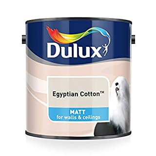 Dulux Matt Emulsion Paint For Walls And Ceilings - Egyptian Cotton 2.5L