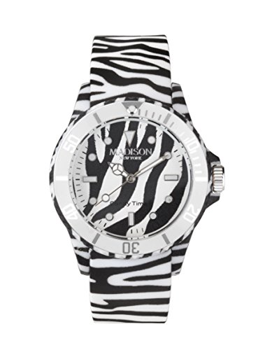 Madison New York Candy Time® Unisex Reloj Animal Print Zebra Onesize