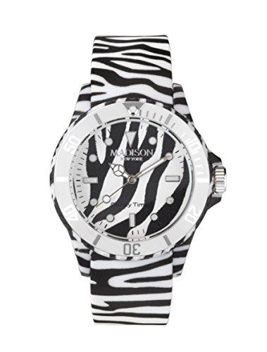 Madison New York Candy Time® Unisex Reloj Animal Print Zebra Onesize