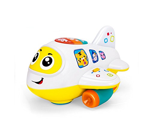 My First Airplane 12 Month + Baby Toy Intelligence Airplane Toy Music/Light/Sound for Children & Kids Boys and Girls