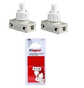 legrand leg91167 lot de 2 interrupteurs poussoir pour pied de lampe bricolage. Black Bedroom Furniture Sets. Home Design Ideas