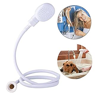 Ducomi Portable Shower – 1 Metre for Mixer Shower Head with Shower Hose Shower Head Sink lavatesta with Universal Fitting for Tap – Ideal For Washing Dogs and Hair in total comfort