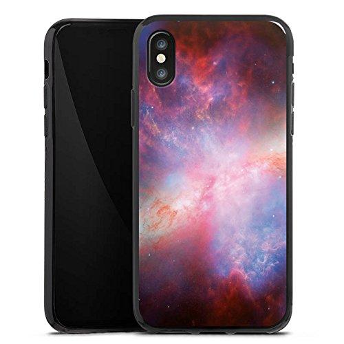 Apple iPhone X Silikon Hülle Case Schutzhülle Galaxy Space Muster Silikon Case schwarz