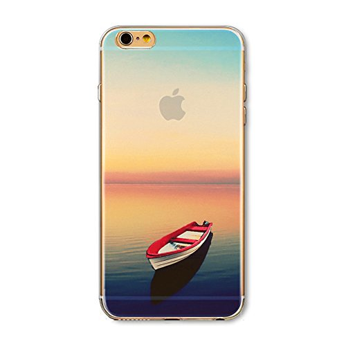 41jtpnRxA L UK BEST BUY #1Apple iPhone 6 Plus/ 6S Plus Case, iPhone 6 Plus/ 6S Plus TPU Case, TKSHOP 3D Colorful Printing Pattern Soft TPU Silicone Bumper + Hard PC Back Cover, Ultra Slim Transparent Exclusive Design Premium Protective Shell   Landscape Small Red Boat price Reviews uk
