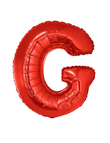 Generique Globo Aluminio Gigante Letra G Rojo 102 cm