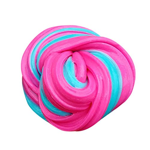 Koly i giocattoli di gomma dei bambini di rilievo di sforzo di 60ml hanno sfruttato il mastice di slime di floam di fluffy floam toys alleviare lo stress giocattolo dell'argilla dei bambini (c)