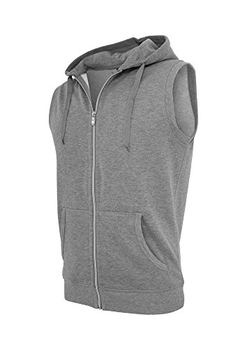 Light Fleece Sleeveless Zip Hoody Grey