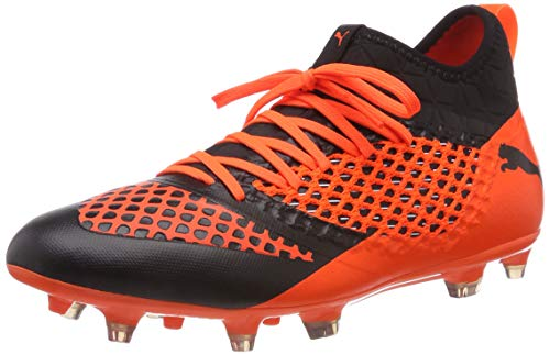 Puma Future 2.3 Netfit Fg/AG, Scarpe da Calcio Uomo, Arancione Black-Shocking Orange 002, 41 EU