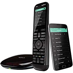 Logitech Télécommande Harmony Elite Harmony Hub et Application Design Elégant Télécommande Universelle Actions Rapides Configuration Facile Noir