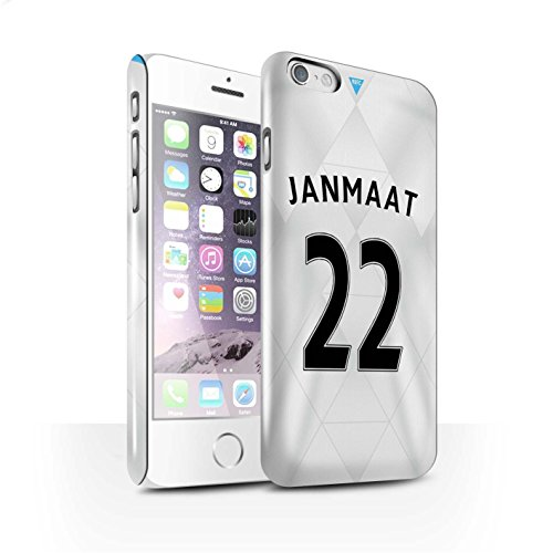 Offiziell Newcastle United FC Hülle / Glanz Snap-On Case für Apple iPhone 6 / Coloccini Muster / NUFC Trikot Away 15/16 Kollektion Janmaat