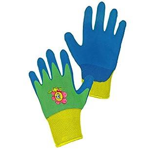 CXS Drago Gants de Travail pour Enfants (12 Paires), Gants de Jardin et de Travail avec revêtement Nitrile (Taille 5 et 7), Bleu