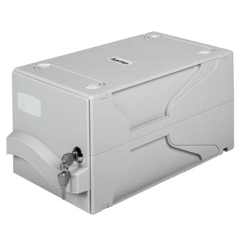 Hama CD File Box für 160 CD-ROMs/DVDs/Blu-Rays (abschließbar, inkl. beschriftbarer Schutz-Hüllen) grau