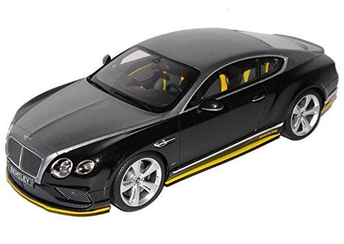Preisvergleich Produktbild Bentley Continental GT Speed Breitling Schwarz Silber Jet Team Nr 734 1/18 GT Spirit Modell Auto mit individiuellem Wunschkennzeichen