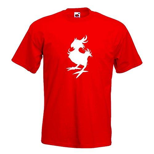 KIWISTAR - Gelber Vogel T-Shirt in 15 verschiedenen Farben - Herren Funshirt bedruckt Design Sprüche Spruch Motive Oberteil Baumwolle Print Größe S M L XL XXL Rot