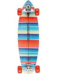 Osprey Stripe Carver Skateboard Bleu/Rouge/Noir