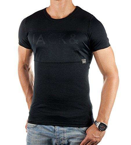 Jack and Jones Herren T-Shirt FRANCIS TEE Schwarz