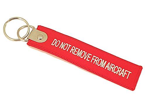 """burdiy Premium CREW Tag\""""DO NOT REMOVE FROM AIRCRAFT\"""" Gepäckanhänger Schlüsselanhänger mit verstärkter Öse und Schlüsselring"""