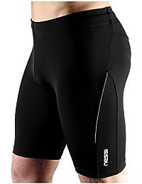 Nessi Lycra Herren kurze Sporthose OSS1 Laufhose Fitnesshose Atmungsaktiv