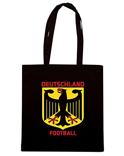 T-Shirtshock - Borsa Shopping WC0055 GERMANIA GERMANY DEUTSCHLAND Nero