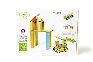 Tegu - Juego de Bloques de Construcción de Madera magnéticos de 42 Piezas - Tintes